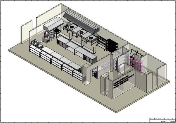 Bản vẽ thiết kế bếp công nghiệp