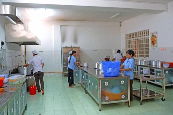 dự án bếp công nghiệp trường mầm non