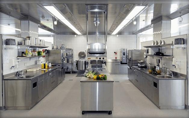 Mẫu thiết kế bếp nhà hàng 2017
