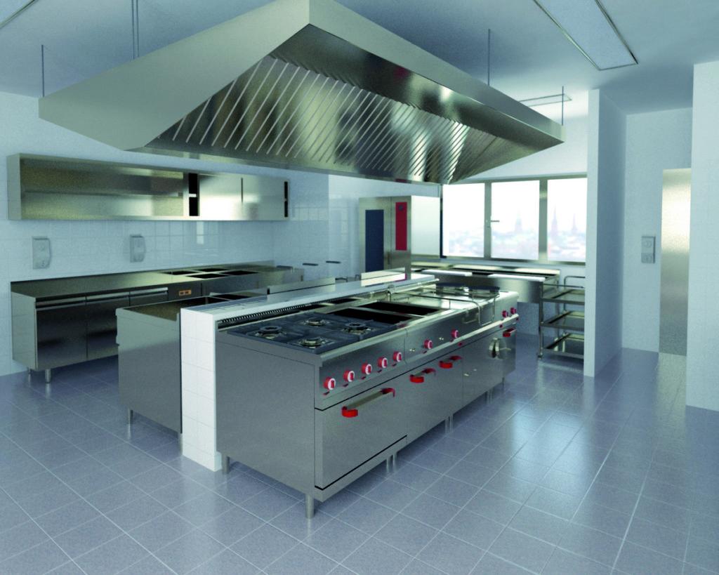 thiết kế bếp nhà hàng âu