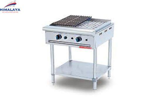 bếp nướng than đá nhân tạo 2 họng cao