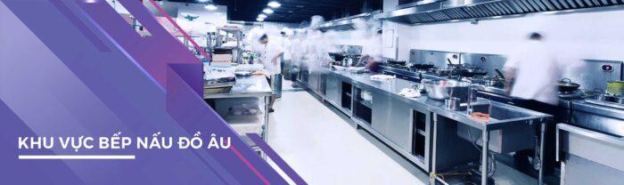 bếp công nghiệp nhà hàng âu