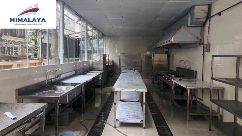 Lắp đặt bếp ăn trường mầm non ánh sáng