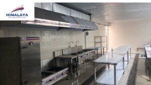 Thi công bếp trường mầm non ánh sáng