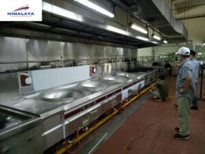 Cung cấp bếp gas công nghiệp quạt thổi cho nhà máy