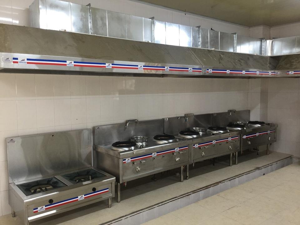 Bếp hầm đôi công nghiệp 2 họng nhà hàng